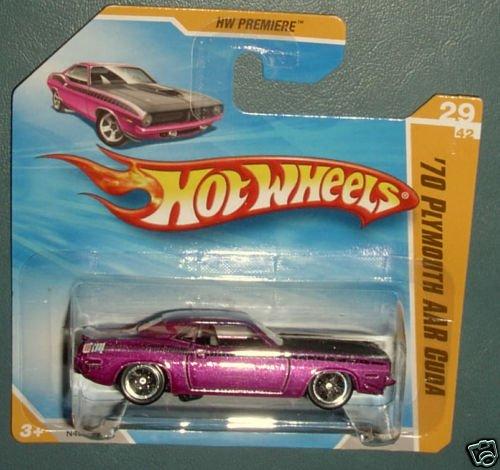 2009 Hot Wheels HW Premiere 29 of 42 1970 PLYMOUTH AAR CUDA #29 purple SHORT CARD -