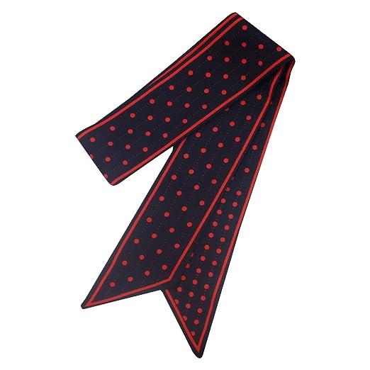 Yanhonin - Pañuelo de Seda para Mujer, diseño Retro, Corbata ...