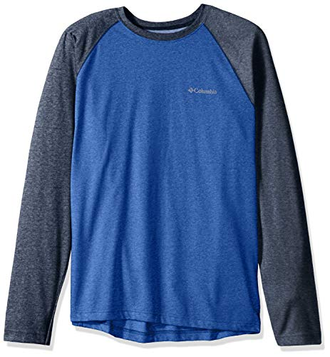 Columbia Men's Thistletown Park Raglan Tee, Azul, Collegiate Navy Heather, XXL