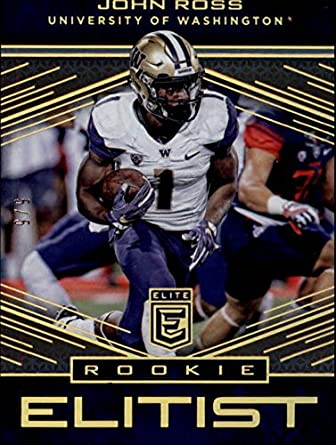 99925fea Amazon.com: 2017 Elite Rookie Elitist Gold #10 John Ross RC 5/5 ...