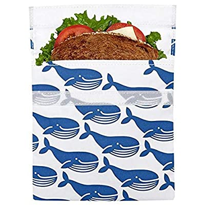 Lunchskins Reusable Sandwich Food Storage Bag (Blue Whale): Kitchen & Dining
