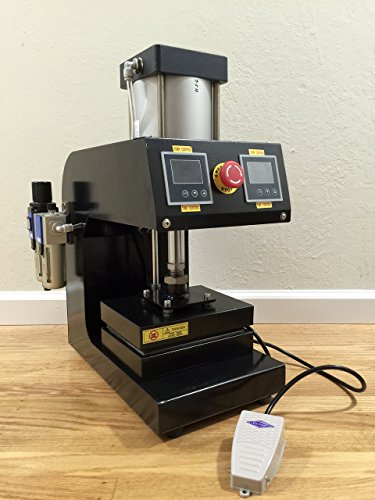 8'' x 6'' Pneumatic Rosin Heat Press Dual Element Heating with foot pedal by CA Rosin Press