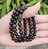 Natural Gold Sheen Obsidian Gemstone Bracelet 7.5