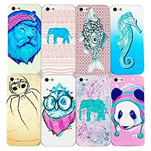 (CASEI)Hi-Q Animal Pattern Hard Cases for iPhone 5/5S(Assorted Color) , 2#