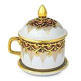 NOVICA Benjarong porcelain teacup, Thai Iyara
