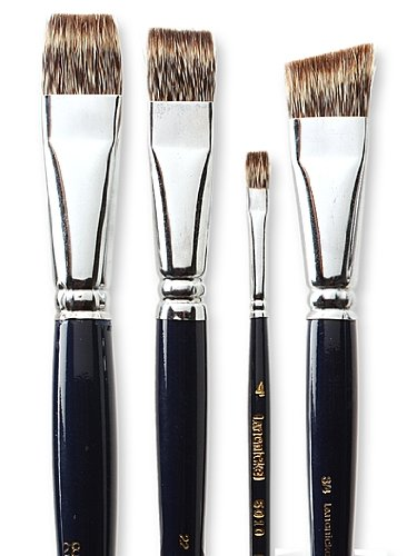 Royal & Langnickel ROYAL & LANGNICKEL Langnickel Royal Sable Tek Brushes Short Handle 16 bright Sable Short Bright Brush