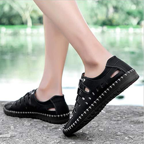 Sandales 39 Chaussures Chaussures YAN Respirantes Léger Conduite de Lacets Couleur Automne Mode Décontractés Noir à pour 2018 Mocassins Microfibre Noir Printemps Taille à Capuche Hommes gq7Pdq