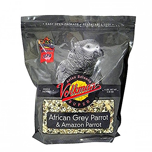 e Super African Grey Bird Food 4 lb (Avian Bird Seed)