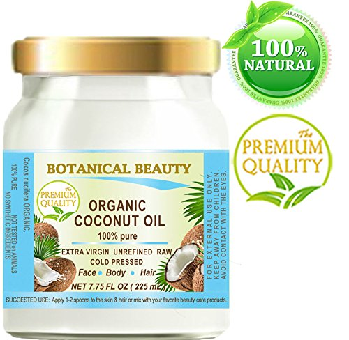 COCONUT OIL ORGANIC WILD GROWTH. 100% Pure EXTRA VIRGIN/ UNREFINED /Natural / Undiluted COLD PRESSED. 7.75 Fl.oz - 225 ml. For Skin, Hair, Lip and Nail Care (Organic Extra Virgin Coconut Oil Sri Lanka)