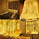 Neretva 600 LED Curtain String Lights, 19.68FTx9.84FT, Fairy Twinkle Lights with 8 Modes for Christmas Party Wedding Party Home Garden Bedroom Wall Decorations (Warm White)