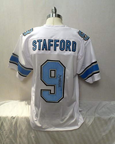 Matthew Stafford Signed White Custom Autographed Pro-style Novelty Custom Jersey by Custom Jersey NO TAGS NO LOGOS...