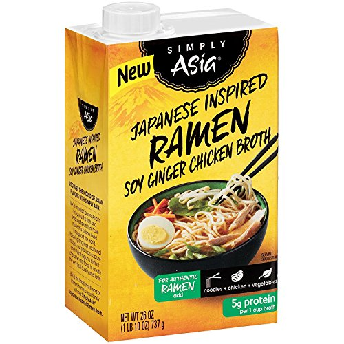 Soy Ginger Ramen (Simply Asia Japanese Style Ramen Soy Ginger Chicken Broth, 26 oz)