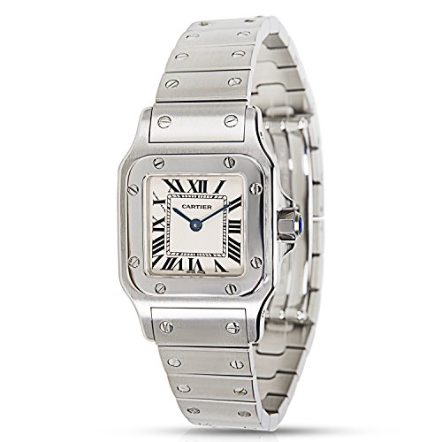 Cartier Santos Galbee analog-quartz womens Watch W20017D6 (Certified Pre-owned)