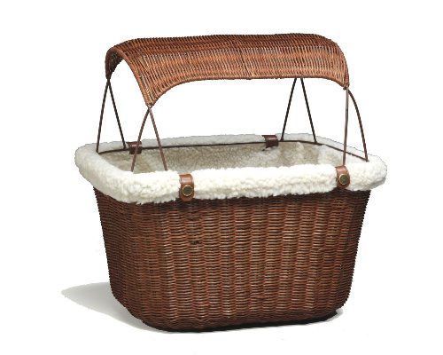 Wicker Pet Bicycle Basket (PetSafe Solvit Tagalong Wicker Bicycle Basket, Dog Carrier for Bikes, Best for Dogs Up to 13 lb.)