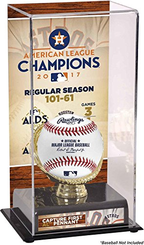 Houston Astros 2017 MLB American League Champions Sublimated Display Case with Image - Fanatics Authentic Certified