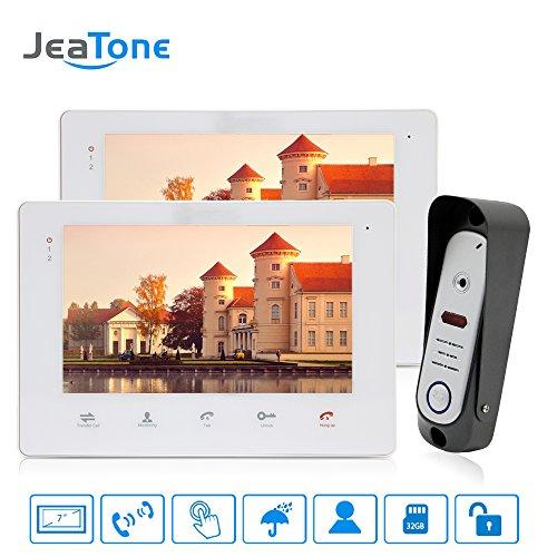 1200 Telephone (Jeatone 7 inch LCD Video Intercom Doorbell Rainproof Door Phone Camera for Home Security 1200 TVL Dual Communication)