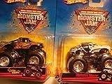 Hot Wheels Monster Jam Dalmation Monster Mutt & The Stone Crusher Set of 2 - 4x4 Trucks Scale 1/64