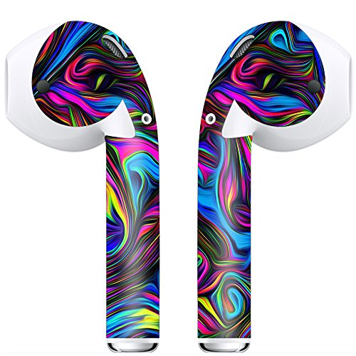 Price comparison product image Airpod Skins Wraps for your Apple Airpods Neon Color Swirl Vinyl Decals Stylize, Customize, protect Skin Stickers for your Apple Wireless headphones