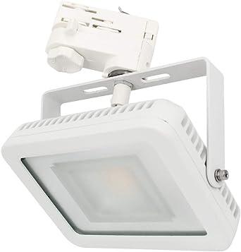 Pack de 3 focos LED de 3 fases, color blanco, 230 V, 20 W, 1700 lm ...