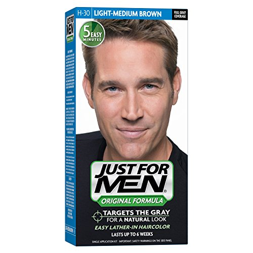 Just For Men Original Formula hair color covers your grays completely, permanenty and effectively. It targets only the gray hair and preserves subtle variations of your natural hair color. This easy to apply non-drip hair color only takes five minutes to color every Reviews: K.