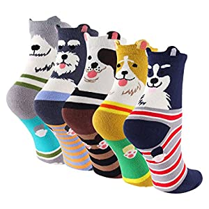 Keaza Socks  Our women's Colorful Patterned Cotton Crew Socks are from Keaza Care-Foot-As-Heart family line. They are soft and elastic. They are knitted with color-block patterns. Our odor and moisture resistant fabric is to make feet stay dry and fr...