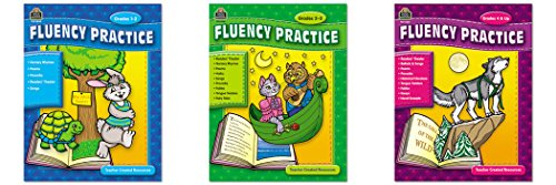 (Teacher Created Resources Grades 1-8 Fluency Practice Set, Three Books)
