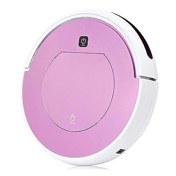 DPPAN Robot Aspirador Fregona, Delgado Robot Aspirador Iimpieza, para Pelo de Mascotas, Delgado Alfombra y Pisos Duros,Pink: Amazon.es: Hogar