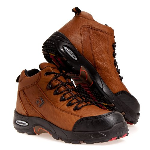 Converse Steel Toe Work Shoe (Men's Converse Steel Toe Waterproof Hikers, BROWN,)