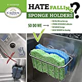 2-in-1 NO FALL Adhesive Sponge Holder   In Sink
