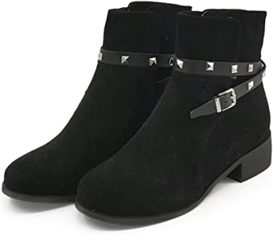 DNOQN Stiefel Stiefeletten Elegant Damen Boots Mode