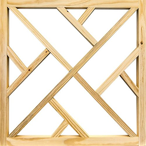 SCREEN TIGHT WCNDINS36 Chippendale Screen Door Insert, 36 in W, Wood