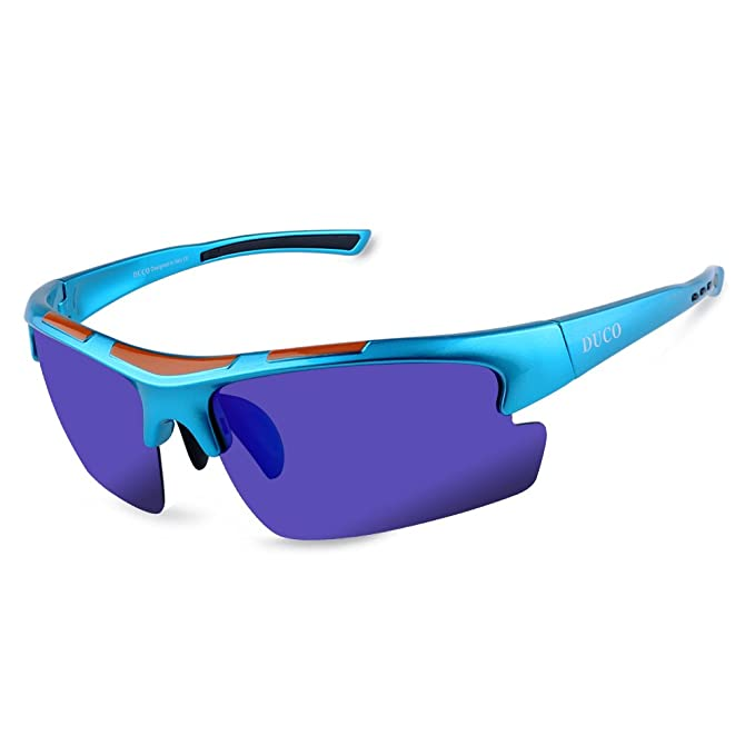 DUCO 6200 de Sol Polarizadas de Diseñador para Ciclismo Baseball Pesca Golf Marco Ultraligero TR90