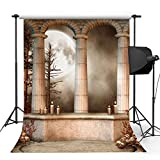 Kooer 5x7ft Moonlit Altar Roman Column Photography Backdrops The Altar Of the Skull Photography Backgrounds Photo Studio Prop Baby Children Family Photoshoot Backdrop Customized Various Size