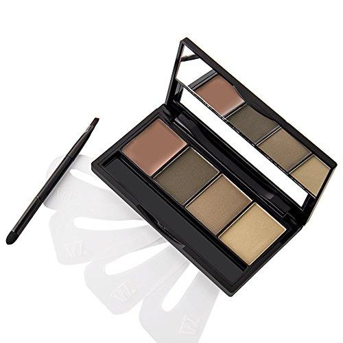 VALUE MAKERS® 4 Farben Augenbrauen-Puder-Paletten mit dem Gel (02)