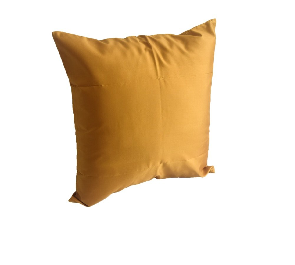 Lotus House Gold Silk Pillow Case by Lotus House
