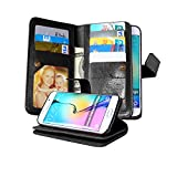 Galaxy S6 Edge Case, NOKEA [Wallet] [Kickstand] [Anti-Scratches] [Shock Resistant] and [Drop Protection] Premium PU Leather Flip Wallet Case Cover for Samsung Galaxy S6 Edge (Black)
