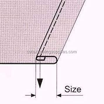 Hem Size 1-1//2 Double Fold Clean Finish Hemmer With Swing-Away Bracket For Sewing Machine