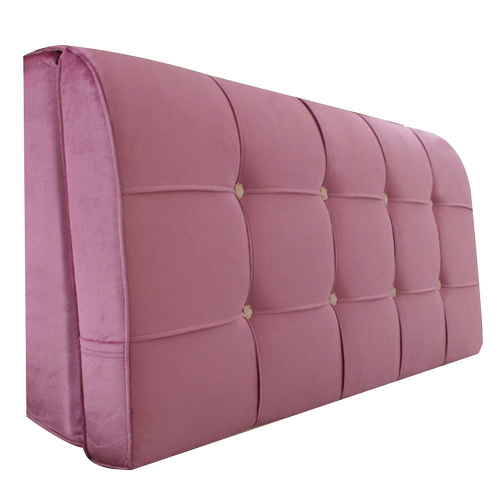 C 200X58X10cm WENZHE Upholstered Fabric Upholstered Headboard Bedside Cushion Wedges Backrest Waist Pad Home Washable Backrest Sponge Soft Case with A Zipper, 4 colors (color   C, Size   200X58X10cm)