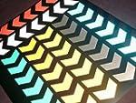 MOGLO REFLECTIVE CHEVRON stickers (48...
