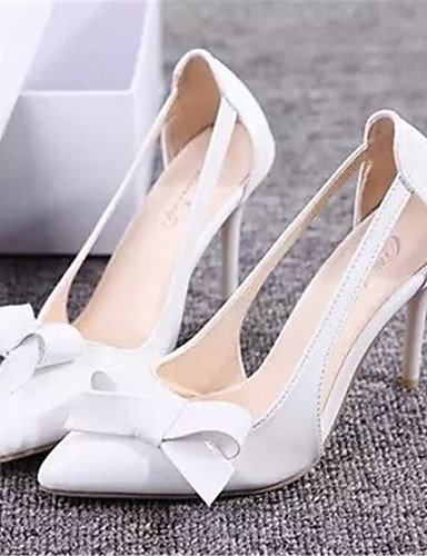 UWSZZ Die Sandalen elegante Comfort Schuhe Frau - Schuhe - formale - ein Tipp - mandrin - Kunstleder - Rosa/Weiß/Grau, 3-in-3 3/4-in-Grau
