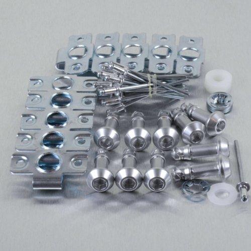 Aluminium Quick Release/Clip 6 Allen Key 24mm Pack x 10 Silver