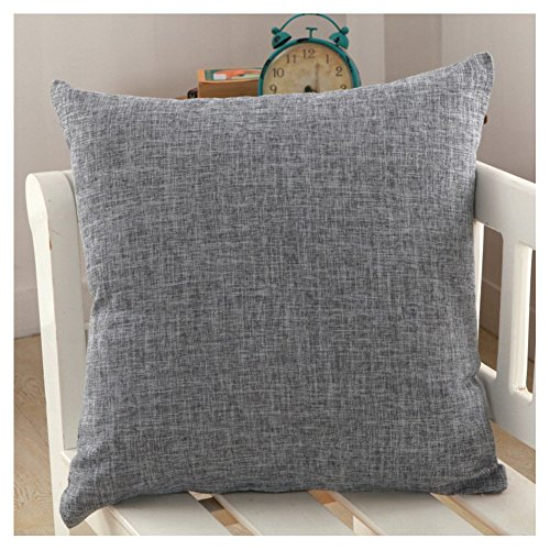 DR.NATURE Solid Color Pillow Covers Shams Burlap Lined Square Throw Pillow Case Cushion Covers for Bench Couch Sofa Camping 26