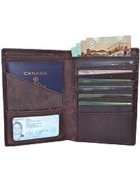 Travel Wallet Passport Holder RFID Blocking Genuine Leather