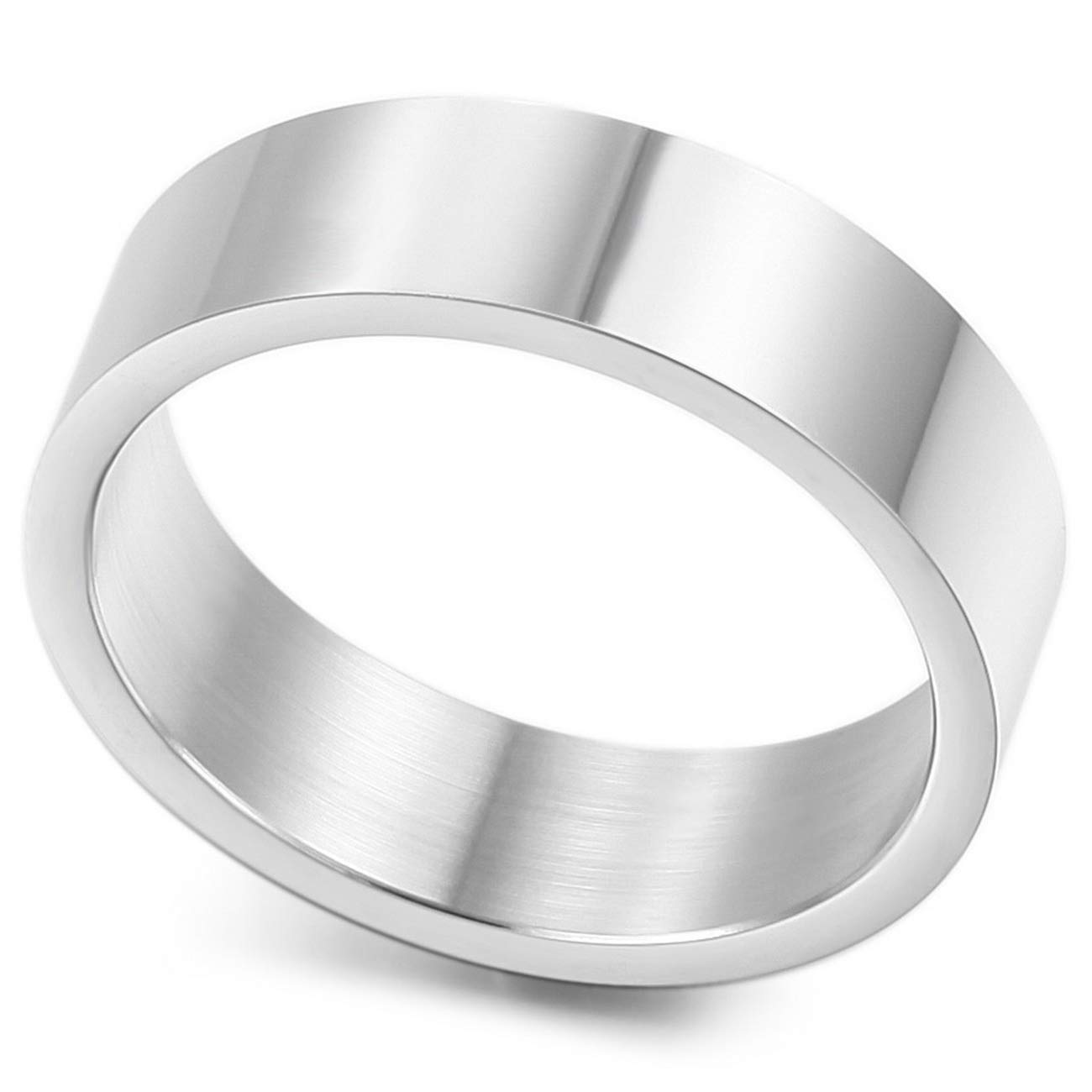 MeMeDIY 6mm Silver Tone Stainless Steel Ring Wedding Band Size 10 - Customized Engraving by MeMeDIY (Image #4)