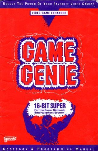 Game Genie Programming Manual & Codebook for Super Nintendo SNES - Edition 3 [Paperback] [1992] Galoob - Super Nintendo Snes Manual