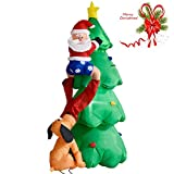 6 FT Airblown Inflatable Christmas Tree Santa Decor Lighted Lawn Yard Outdoor Sold by Rocky's Rocket