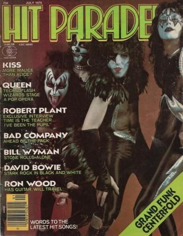 Hit Parader, July 1976 (KISS, Queen, Robert Plant, Bad Company, Bill Wyman, David Bowie, Etc.)