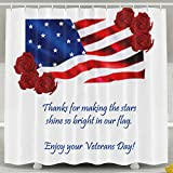 FVCXKM Personalized Shower Curtain-Remembrance Honoring Our Veterans Everyday Waterproof Polyester Bathroom Curtain,Decorative Shower Curtain 60 X 72 Inch