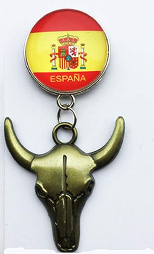 MUYU Magnet Imán para Nevera, diseño de Cabeza de Toro y Bandera Nacional de España: Amazon.es: Hogar
