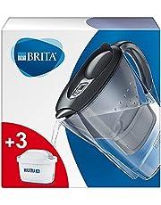 BRITA Marella koelkast waterfilterkan voor vermindering van chloor, kalk en onzuiverheden, Inclusief 3 x MAXTRA+ filterpatronen, 2,4L -grafiet